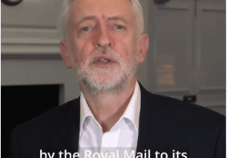 Jeremy Corbyn attacks Royal Mail photo
