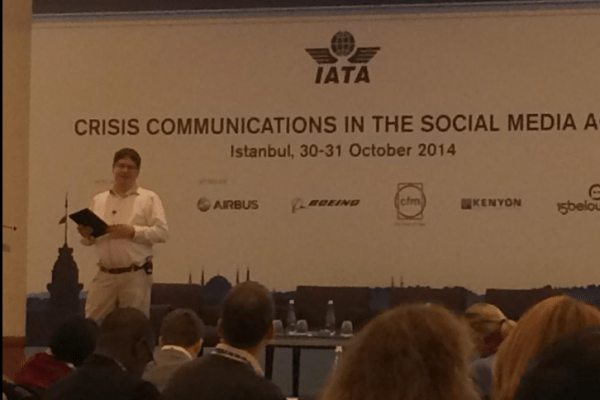 Future of PR and social media for International Air Transport Association crisis communications conference 3