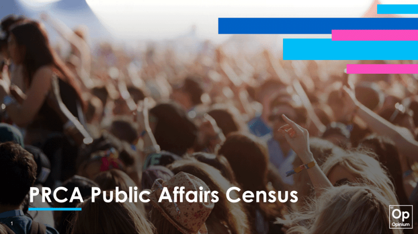 PRCA Public Affairs Census cover