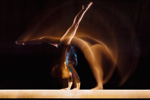 Blurred gymnast for PR performance