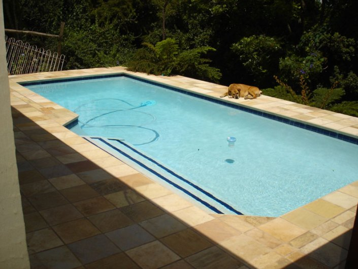 POOLS ON SLOPING GROUND