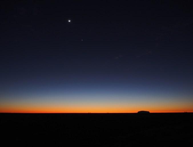 dawn with stars