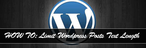 Limit Wordpress Posts Text Length Without The Use Of Plugins