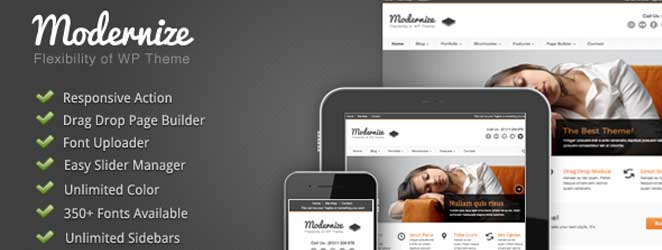 Modernize Responsive WordPress Business / Corporate Theme
