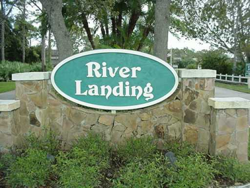 Entrance to River Landing in Palm City Florida