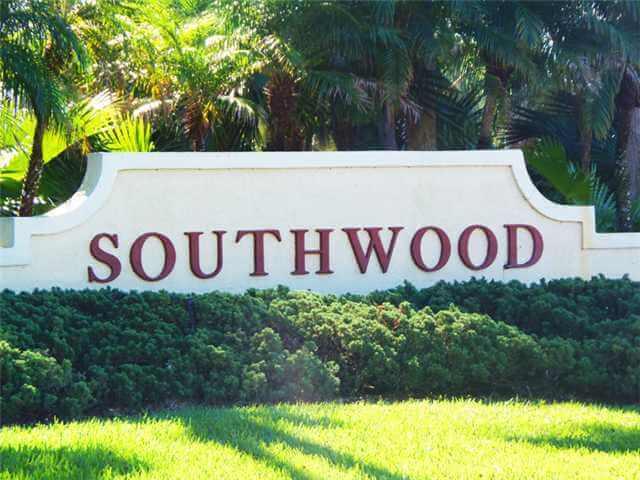 Entrance to Southwood of Stuart FL