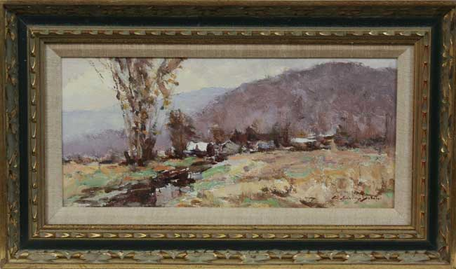 "C Curry Bohm IN 1894 1971 ""November Morning"" O B"