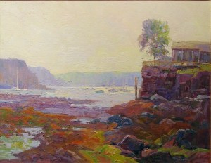 House on Rocky Shore
