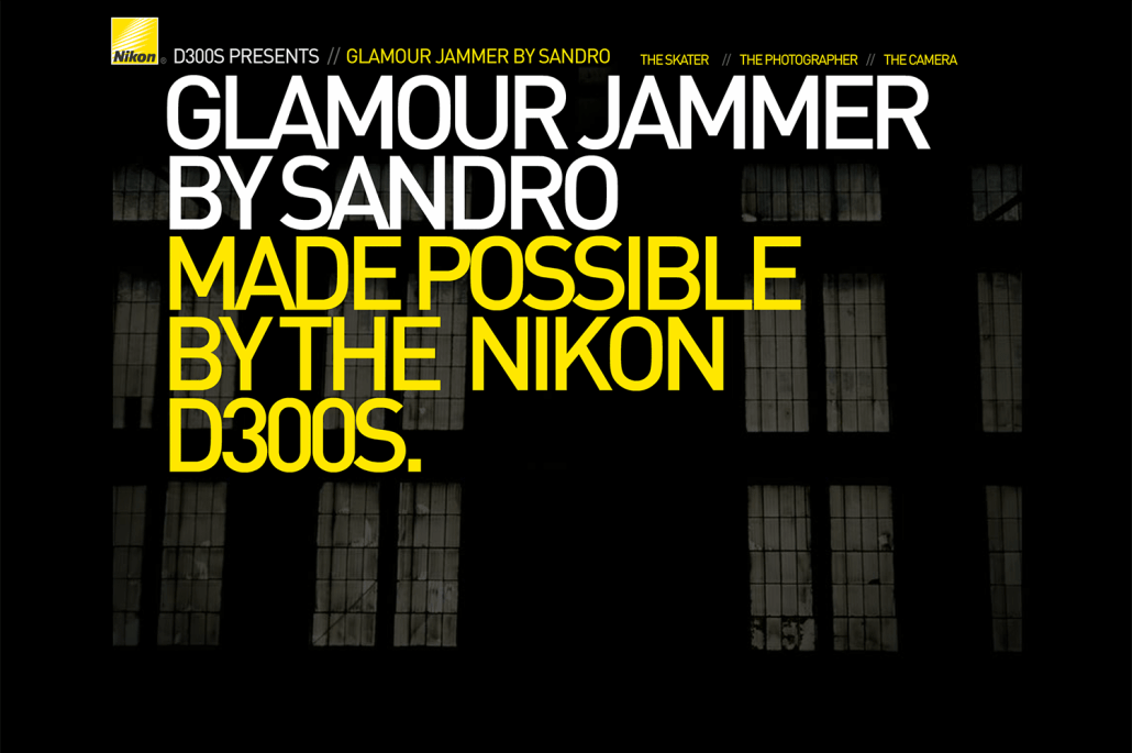Glamour Jammer Site Screen Shot