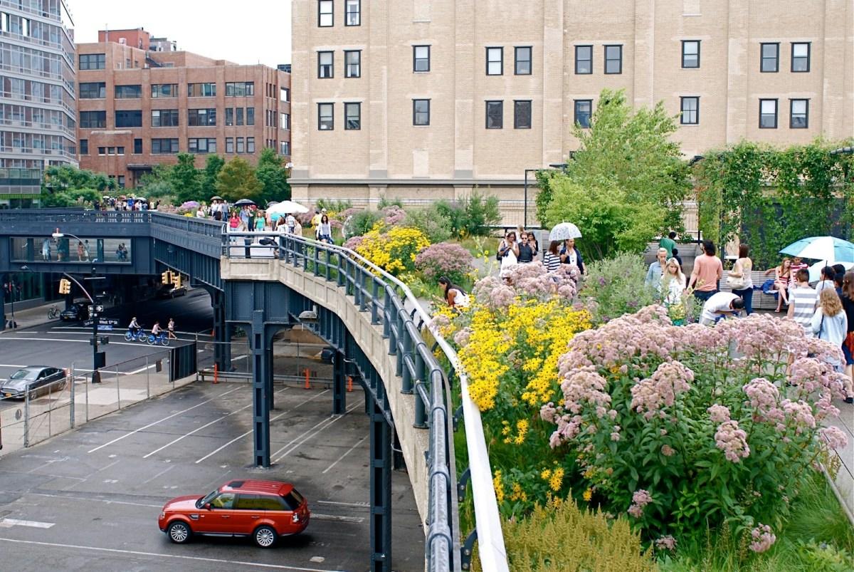 York Manhattan High Line Park Oasis In