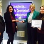Letting Agent Cheadle Winners at Damar Training Apprenticeship Awards.