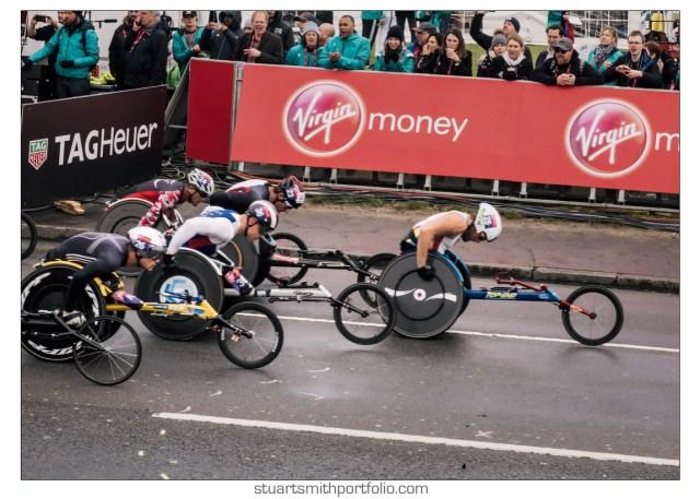 London Marathon Pictures - Wheelchair Athletes