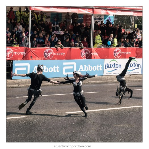London Marathon Pictures - Dancers Performing