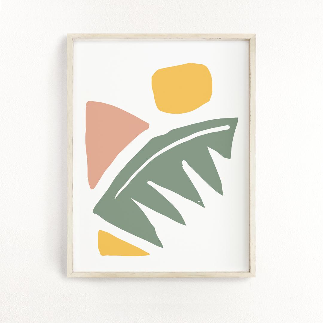 palmfrond_no2_frame art print