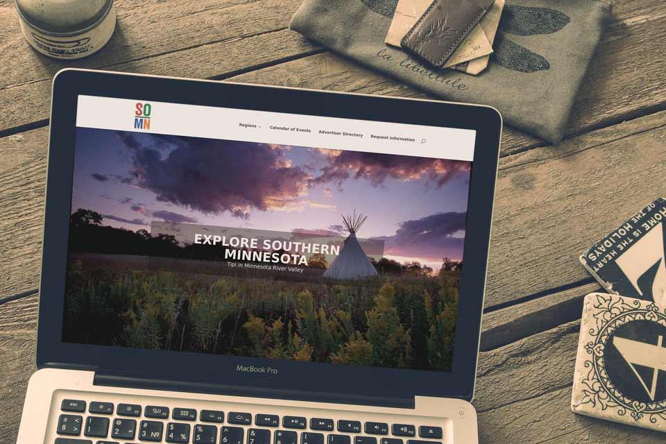Explore Southern Minnesota Microsite desktop screenshot