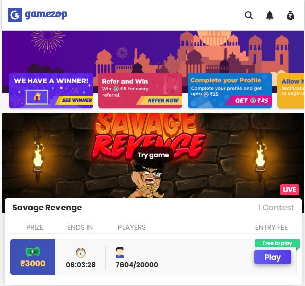 Review: Gamezop Play Mobile Games And Win Real Money