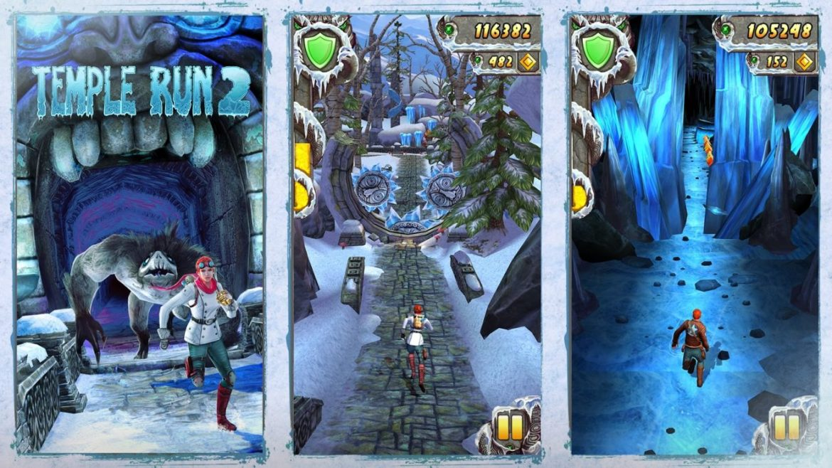 Temple run mobile game ios and android mobile
