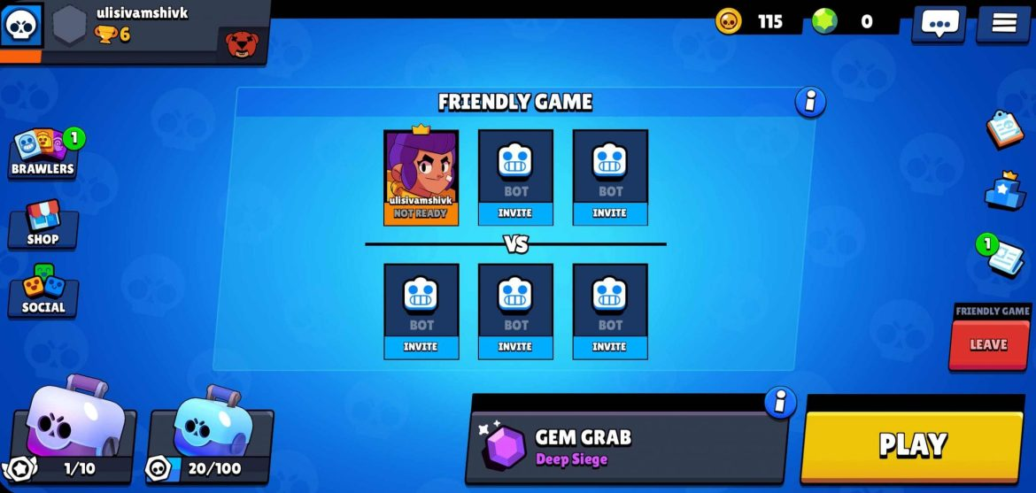 Friendly Game In Brawl Stars