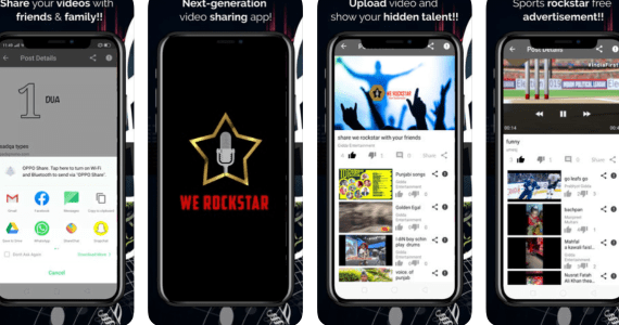 We Rockstar App For Video Sharing With your friends and family