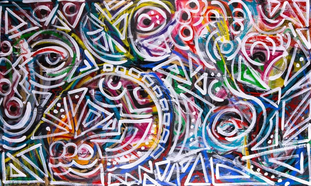 """El día de los Muertos acrylic on canvas 60"""" x 36"""" 2014"""