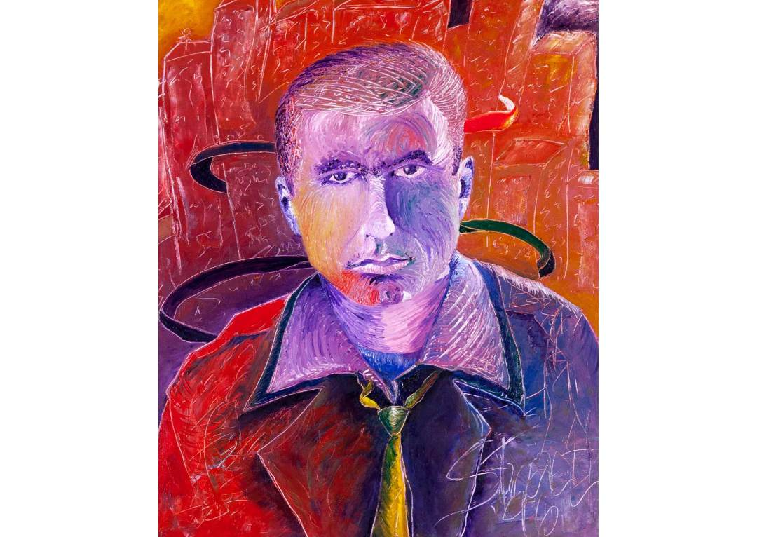 """Portrait of My Father; Oil on Canvas, Size: 24"""" x 20"""". Explorations in Art by Stuart Carey ©1997"""