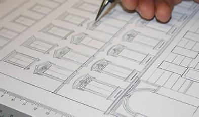 Gestaltung von Innen-<br/>räumen und Fassaden