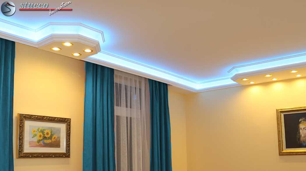 Direkte und indirekte Beleuchtung mit Stuck  Stuckhersteller