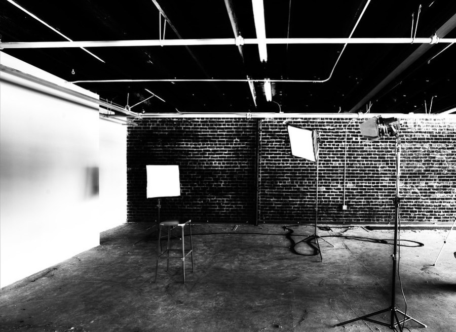 An impromptu photo studio set up in the expansion space…
