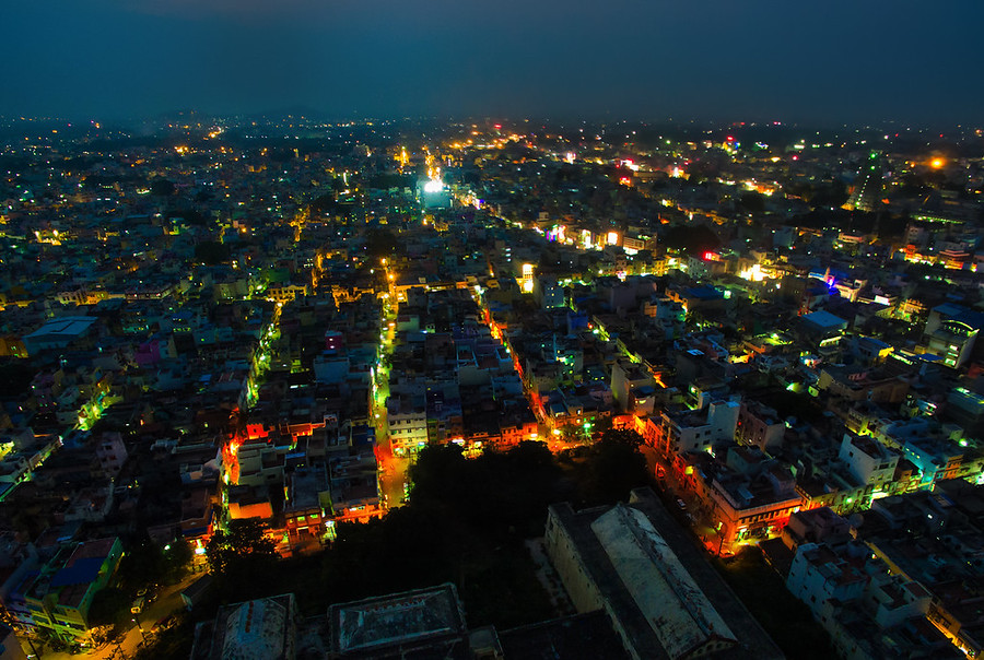 Chennai Quadcopter at Night