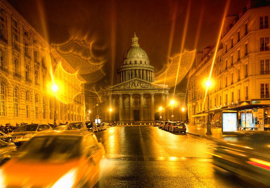 The PantheonScott and I went out almost every night taking photos all over Paris. The Pantheon here was right by our hotel. It was a rainy night when we were arriving home, so I had a feeling it would be a good time for photography! My intuition is not always spot-on, but in this case it worked out pretty well.- Trey RatcliffRead the rest and see the long version of the SmugMug video here at the Stuck in Customs blog.
