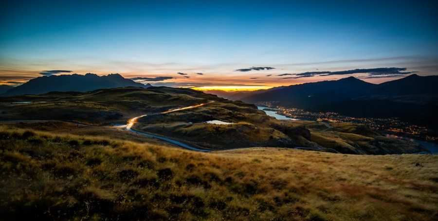 The View From Deer Park Heights In New Zealand