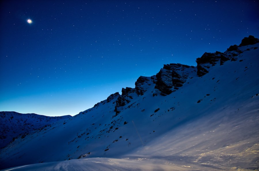 The Backside of the Remarkables before Sunrise