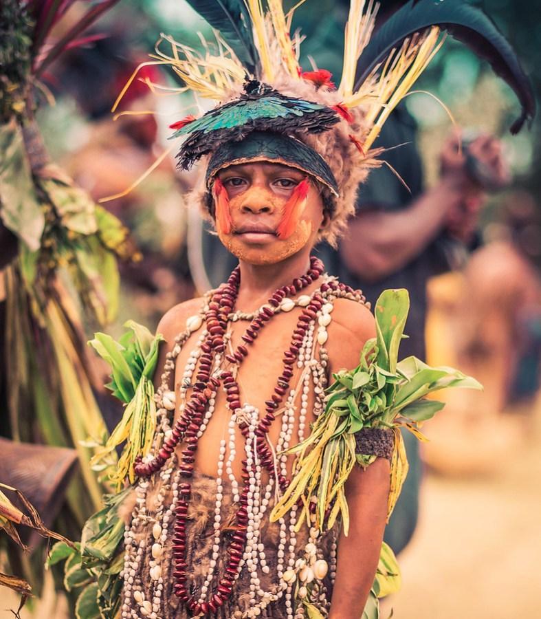 Boy in Papua New Guinea