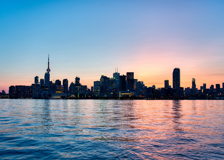 Toronto in the morning from Humber Bay Park