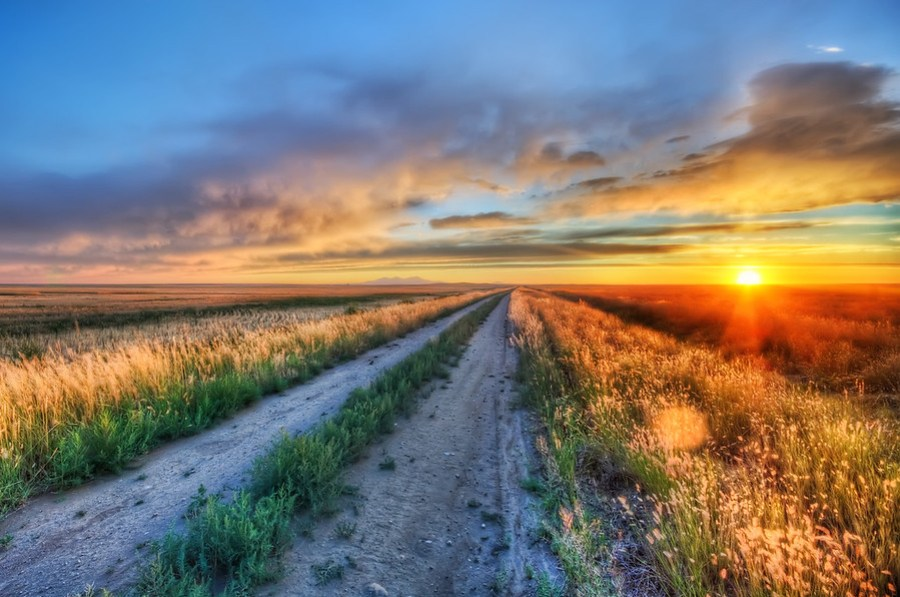 Long Road in MontanaThis is the road I got stuck on after my 4-wheeler caught on fire.  Now, of course, I had all my photography equipment with me... who wouldn't take a whole host of photo equipment on a 4-wheeler joyride?  I don't know!  I mean, you gotta be ready just in case the dang thing catches on fire!- Trey RatcliffRead more, including some info on how to snag a Google+ invite, here at the Stuck in Customs blog.