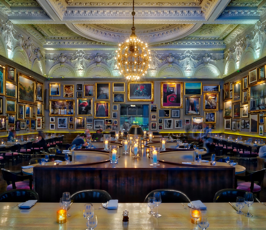 The restaurant at the London Edition. Great details, eh?