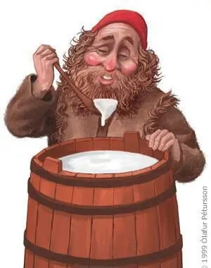 Skyr Glutton wasn´t very sanitary when he stole the precious source of protein from the hungry peasants at Christmas.