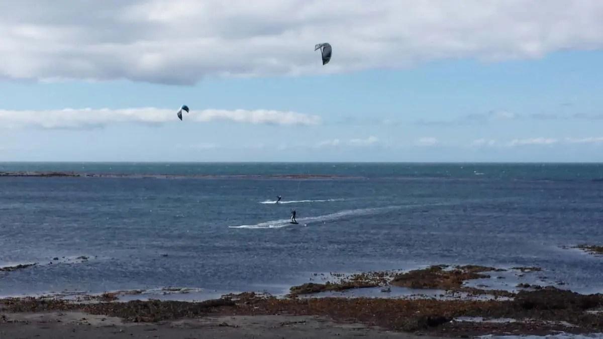Crazy Kite Surfing in Reykjavik