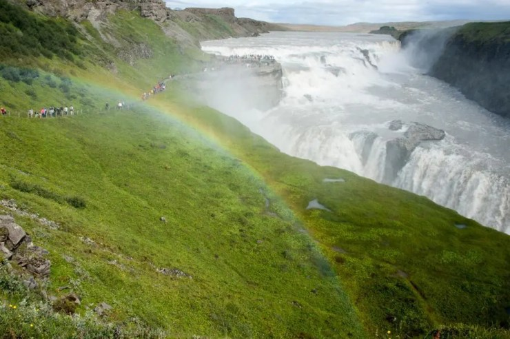 The Roaring Gullfoss Waterfall.