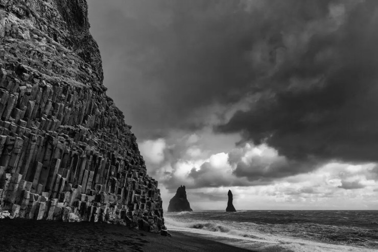 Dyrholaey in the South of Iceland.