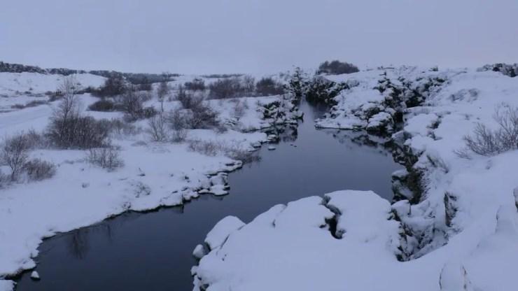 Thingvellir in the dead of winter.