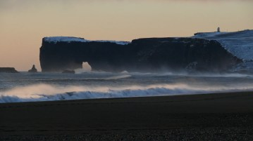 Reynisfjara beach is stunning and dangerous.