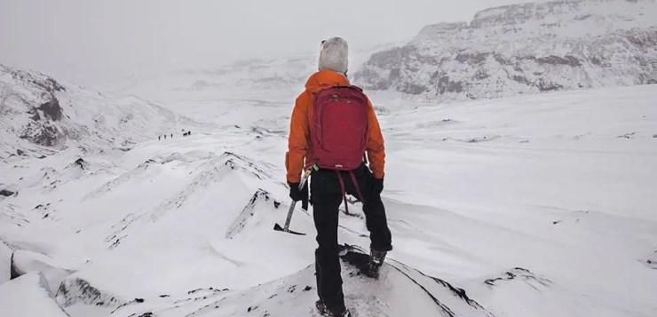 Do More Ásgeir on an Icelandic glacier.