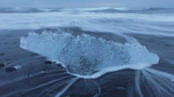 Waves on a Icelandic beach.