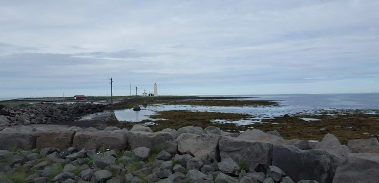 Cycling in Reykjavik will take to many great places. Grotta by the seaside is one.