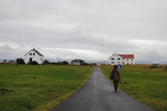 One of the nicest places in Reykjavik to take a great walk or go cycling is by Ægissíða.