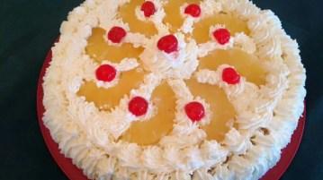 "Rjómaterta or cream cake. What Icelanders call a ""Hnallþóra"""