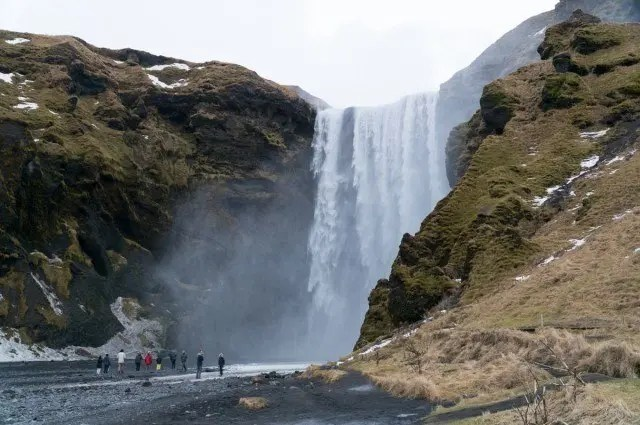 Seljalandsfoss waterfall looking impressive.