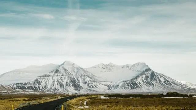 Icelandic mountains.