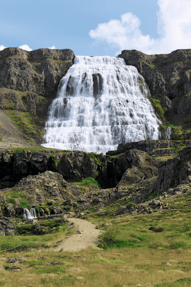 The waterfall Glymur is featured in the new Iceland book.